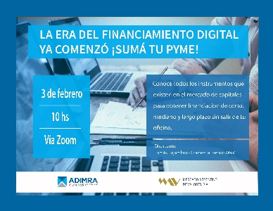 La era del financiamiento digital ya comenzó ¡Suma a tu Pyme!